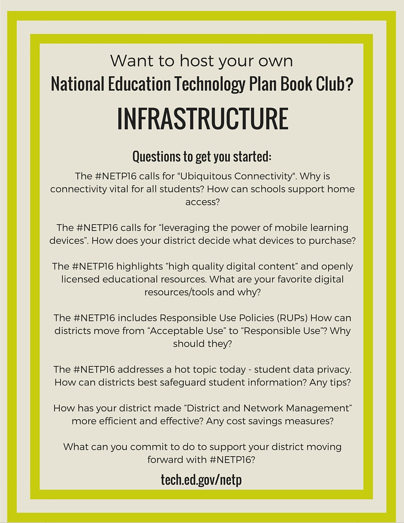 NETP 16 Book Club questions for Infrastructure section