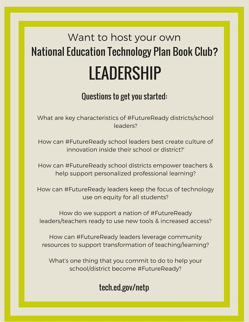 NETP 16 Book Club questions for Leadership section