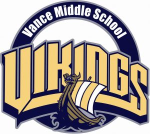 Official Vance Middle School Logo showing a Viking Ship