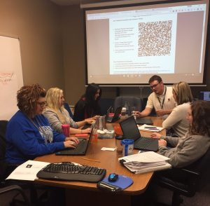 Hollister's #GoOpen team collaborating on district content.
