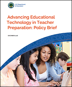 """Advancing Educational Technology in Teacher Preparation: Policy Brief"" icon"