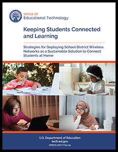 Wireless Network Brief cover includes title and images of four students independently learning using computers and tablets.
